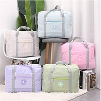 Double-Layer Waterproof Increased Capacity Round Standard Trolley Travel Folding Clothing Storage Luggage Airplane Bag