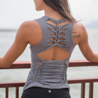 The new sexy hollow breathable quick-drying yoga clothing yoga clothes
