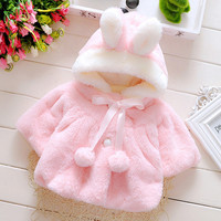 Infant jackets for girls,kids fashion winter warm jacket and coat baby girl autumn ponchos capesNew Arrival 2016