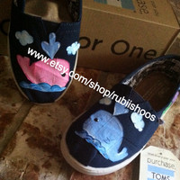 Beachy Toms featuring chibi whales, starfish, and octopus