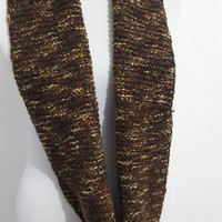 BİG SALE, Brown,Knitted infinity scarf, hand knitted, knitted,, Free Shipping, Knitted infinity scarf,   hand knitted, chunky.