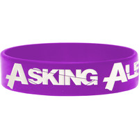 Asking Alexandria Men's Logo Rubber Bracelet Purple