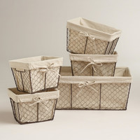 Charlotte Lined Wire Baskets - World Market