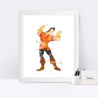 Gaston Print Beauty and the Beast Gaston Poster Disney Wall art Baby Wall Decor Watercolor Poster Nursery Artwork instant Digital Download