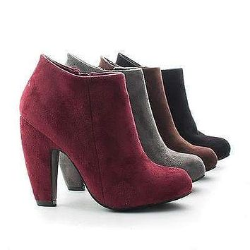 Mozza02 By Bamboo, Classic Zip Up Ankle Bootie