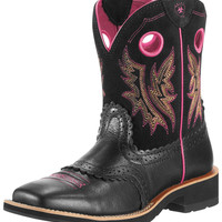 Ariat Women's Fatbaby Cowgirl Boot - Mustang Black/Black
