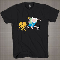 AdventureTime - Finn and Jake  Mens and Women T-Shirt Available Color Black And White