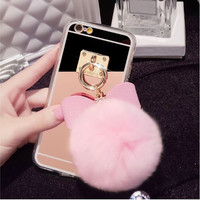 Bowknot Ring Cover Fashion  Phone Cases