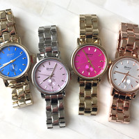 Simple Color Dial Watch