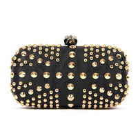 Skull Union Jack Rivet Punk Box Wedding Party Evening Clutch