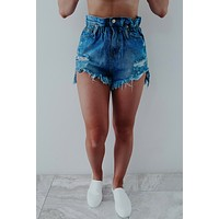 Spring Break Shorts: Dark Denim