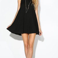 FULL SWING TANK DRESS - BLACK