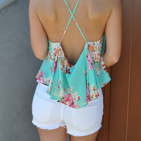 Floral Dream Low Back Top - FINAL SALE