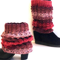 Knit Boot Sock Leg Warmers Women Tall Boot Toppers Winter Fashion Knitted Shoe Accessories For Her Gift Ideas Christmas Gifts senoAccessory