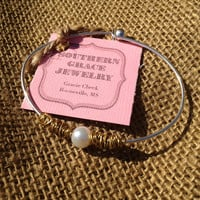Silver Pearl Bracelet by SouthernGraceCompany on Etsy