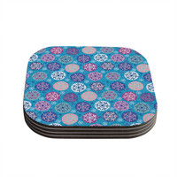 "Julia Grifol ""Floral Winter"" Coasters (Set of 4)"