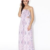GYPSY TILE AIRLIE STRAPLESS MAXI DRESS