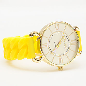 Time Matters Watch - Yellow