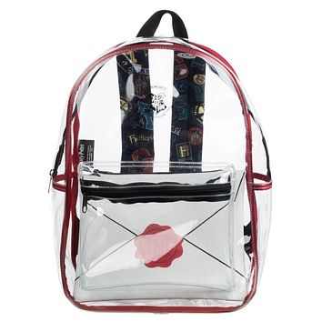 Harry Potter Hogwarts Clear Backpack w/ Removable Pouch