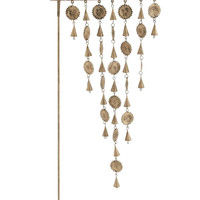 Welcome Metal Sun face Garden Stick Wind chime
