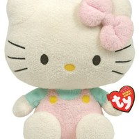 Ty Beanie Baby Hello Kitty - Pink Overalls