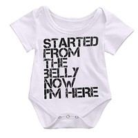 Newborn Infant Baby Boys Girls Romper Shrot sleeve Clothes Sunsuit Outfits girl Clothing