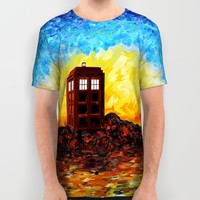 twilight British Phone booth iPhone 4 4s 5 5c 6, pillow case, mugs and tshirt All Over Print Shirt by Three Second