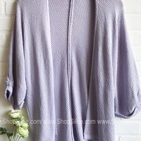 Holly Pastel Knit Cardigan | Lavender