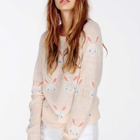 SNOW BUNNY PARTY SWEATER
