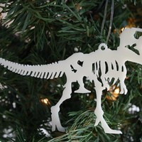 Acrylic T Rex Dinosaur Skeleton Christmas Ornament