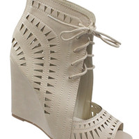 Bianca Lace Up Wedges
