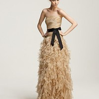 """Tadashi Shoji Strapless """"Feathery"""" Gown - Evening - Bloomingdales.com"""