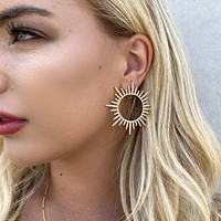 Blinded By The Light Sun Hoop Earrings