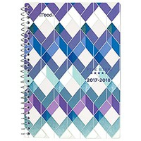"Five Star Student Academic Weekly / Monthly Planner, August 2017 - July 2018, 5-1/2"" x 8-1/2"", Style, Cool Geo Design (CAW409D2)"
