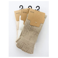 Cute and Cozy Tall Pointelle Ruffle Socks