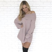 Bundle Me Up Knit Sweater Dress