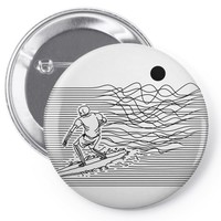 surf line Pin-back button