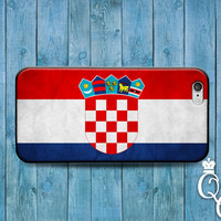 iPhone 4 4s 5 5s 5c 6 6s plus + iPod Touch 4th 5th 6th Gen Fun Red Blue White Croatia Croatian National Nation Flag Country Case Phone Cover