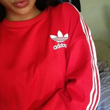 "Fashion ""Adidas"" Round Neck Top Sweater Pullover Sweatshirt"