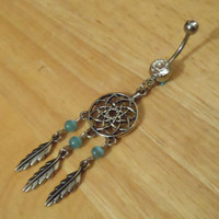 Belly button ring - Dream Catcher belly button ring