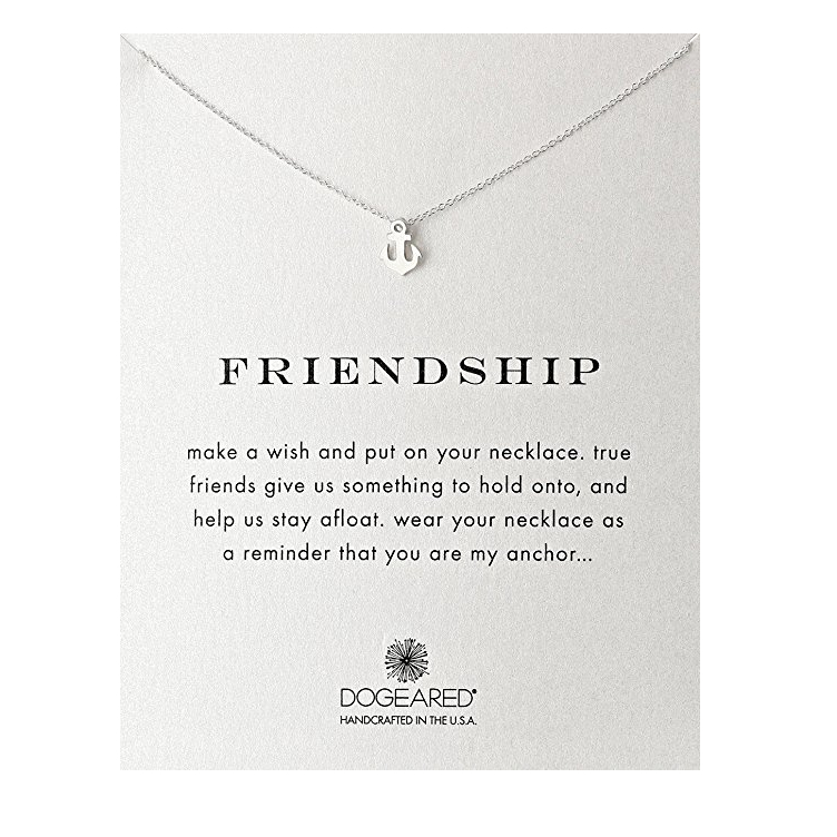 Image of Dogeared - Reminder Friendship Smooth Anchor Dainty Necklace in Sterling Silver