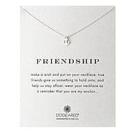 Dogeared - Reminder Friendship Smooth Anchor Dainty Necklace in Sterling Silver