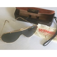 Vintage B&L Ray-Ban Wings Aviator Sunglasses Bausch & Lomb USA