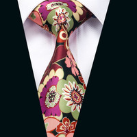 New Arrival Colorful Floral Cotton Ties For Men Party Vintage Printed Fashion Necktie Design High Quality