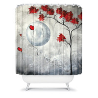 DENY Designs Madart Inc. Polyester Far Side Of The Moon Shower Curtain