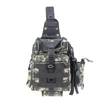 Hetto Tactical Sling Chest Pack MOLLE-Polyester Waterproof One Strap Crossbody Backpack-Military Shoulder Bag for Fishing