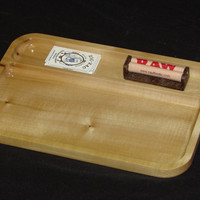 """Marijuana Rolling Tray, 8"""" X 12"""" Rolling Tray made out Colorado Aspen.  This Tray has plenty of  upper storage for papers and roller"""