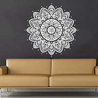 Wall Decal Mandala Vinyl Sticker Decals Lotus Flower Yoga Namaste Indian Ornament Moroccan Patern Om Home Decor Art Bedroom Design Interior