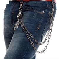 Fashion New Rock Dancing Waist Accessories Women and Men Street Punk Alloy Plating Talon Jean Pant Chains Hip Hop Chain