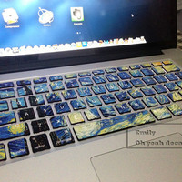 star and sky  keyboard decal MacBook decal MacBook air sticker MacBook pro decal